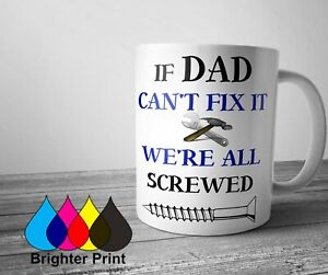 Personalised Dad Fathers Day Mug Tea Coffee Cup Custom Present Funny Gift