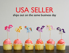 NEW SET OF 24 My Little Pony CUPCAKE TOPPERS CAKE TOPPERS