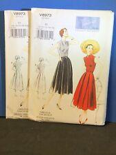 """""""Dress & Belt"""" Vogue Vintage 1950 Model, Vogue Patterns V8973 Size (16 - 24)"""