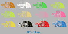 """north face""  GLOW IN THE DARK  Iron-On LOGO DIY Shirt Clothing Transfer Sticker"