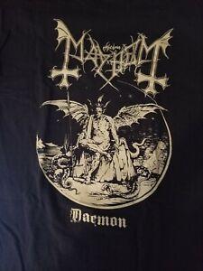 "Mayhem ""Daemon"" Large Shirt $1 Black Metal Darkthrone Emperor Satyricon Enslaved"