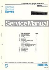 PHILIPS Original Service Manual per CD 608/618