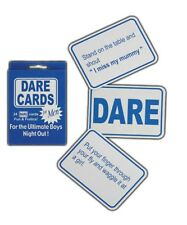 Stag night dare cards 24 x BLUE  Dare Cards for STAG Night Party