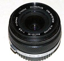 Olympus 24mm Lens H. Zuiko Auto-W 1:2.8 OM System SLR