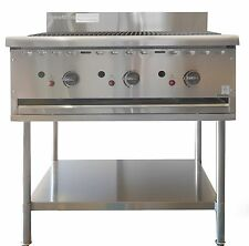 COMMERCIAL CATERWARE S/S GAS 900mm CHARGRILL ON STAND (LPG OR NATURAL)