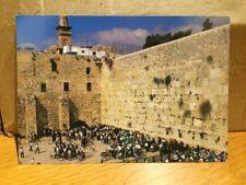 Jerusalem The Western Wall Wailing Wall 1995 Postcard