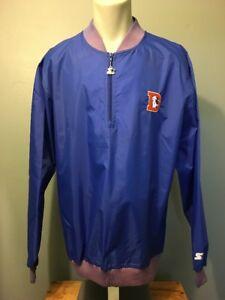 Vtg 80s 90s Starter Denver Broncos Nylon Jacket Mens XL Windbreaker Coat Retro