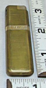 KREISLER ELEGANT BRUSHED GOLD PLATED SLIM BUTANE POCKET LIGHTER 1970s JAPAN