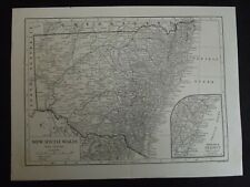 Vintage Map: New South Wales, Australia, by Emery Walker, 1926, B/W