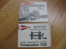 Ambassadeur 7000 Reel Product and Service Booklet