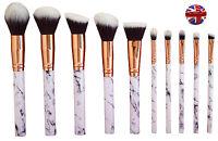 10pcs Professional Kabuki Make up Brush Set Foundation Blusher Face Powder SALE