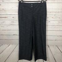 NWT Loft Ann Taylor Gray Marisa Wide Leg Cuffed Dress Pants Women's Size 8