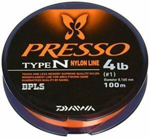 Daiwa nylon line Presso type N 100m 0.8 No. 3lb fine orange