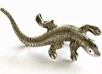 Vintage Silver Lizard Brooch 49MM Long GIFT BOXED