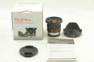 SAMYANG 12mm 2 NCS CS X for Fujifilm X Manual Focus Fujifilm L688 @ ar
