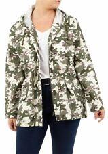 New Womens Camouflage Print Shower Proof Festival Mac Rain Coat Jackets 8-24