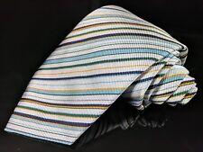 "New TURNBULL & ASSER Striped Hand Made 100% Silk Mens Luxury Tie - 3.5"""