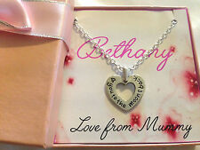 personalised girls childrens ladies Love You To The Moon And Back necklace