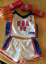 Build a Bear NBA Basketabll No. 1 Outfit Red White Blue * Armbands * Headband