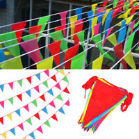70M Triangle Flags Bunting Banner Pennant Festival Wedding Party Decor