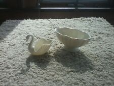Pair of Lenox Trinket Dishes, One Swan & One Bowl