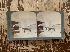 1902 Inclined Railway Station Ice Mountain American Falls Niagara Stereoview