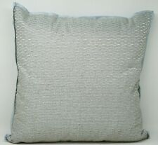 "Hotel Collection Dimensional Beaded 18"" Cotton Decorative Pillow - Dreamy Blue"
