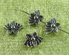 80pcs Tibetan Silver Lotus Flower Spacers Craft DIY 12.5x9x4mm U61-zn64141