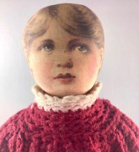 "15"" Antique American Cloth Early American Boy Doll! Rare! Adorable! 18022"