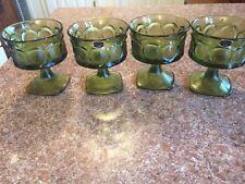 4pc Vintage Noritake Spotlight Japan Champagne Sherbet Stemware Olive Glasses