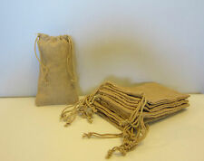 "10 BURLAP JUTE SACKS WITH DRAWSTRINGS 6"" BY 10"" WEDDING PARTY FAVOR GIFT BAGS"