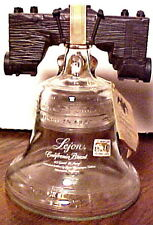 Vintage Lejon Brandy Bicentennial Glass Liberty Bell Decanter, Hang Tag, V. Good