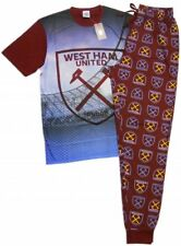 NEW 100% Official West Ham Utd FC Mens Lounge Pants Set Pyjamas Pajama HAMMERS