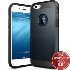 "Luxury Heavy Duty Tough Armor Case for iPhone 6 Plus (5.5"") - Metal Slate"