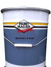 Black Barn And Shed,fence Paint Oxide Gloss 20ltr Used By The Professionals
