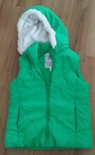 The Children's Place girls puffer vest sz 14 gold fleck removable hood warm EUC
