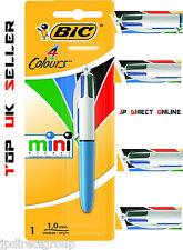 BIC ORIGINALI MINI 4 in1 a colori retrattile penna sfera scrittura Ufficio Scuola
