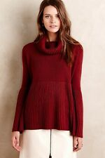 anthropologie ribbed bell sleeve pullover, by lil's closet, size large, nwt