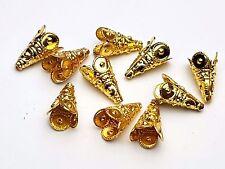 10 X Métal Perle Perles Bouchons Tibet Gold 8 mm