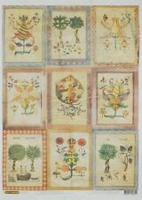Rice paper for decoupage. Medieval botany, A3. Made in Russia. Papel de arroz