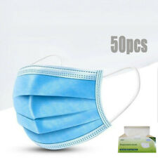 50PCS Air Purifying Face Mask Cover Outdoor Anti Haze Fog Mouth Masks For Adult