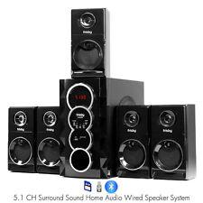 home theater 2 1. frisby fs5070bt 800watt bluetooth 5.1 surround sound home theater speaker system 2 1