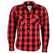 Chemise moto Lumberjack de B:O:S - En kevlar - Rouge à carreaux - Taille M-5XL