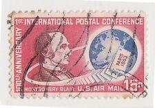 (UST-226) 1963 USA 15c M. Blair Paris post air mail (H)