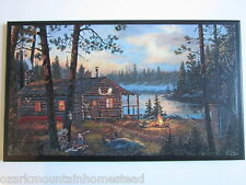 Cabin Sign Rustic Hunting Lodge Style wall plaque primitive country outhouse