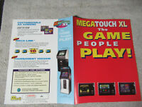 megatouch   xl    MERIT    ARCADE   GAME  FLYER