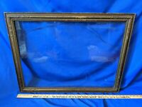 Large Antique Gold Carved Wood Art Deco Picture Frame Painting Mirror Photo