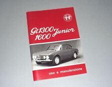 Uso e manutenzione Alfa Romeo GT 1.3 - 1.6 use and maintenance owner's manual-
