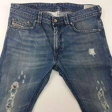 Diesel THAVAR 0800X Mens Jeans W33 L32 Medium Wash Slim Fit Skinny High Rise Zip