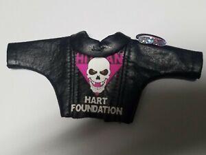 WWE Custom Mattel Elite Bret Hart jacket and glasses